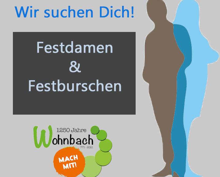 Wohnbacher Festdamen und Festburschen