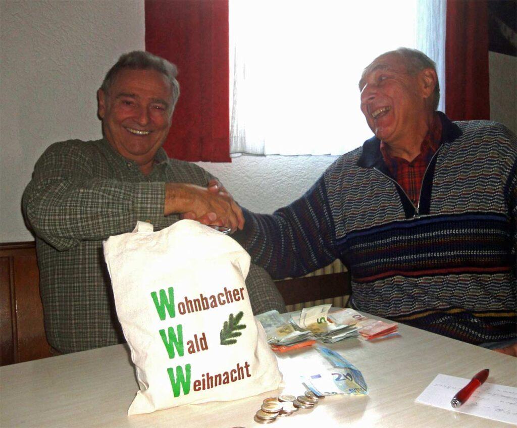 Spende von der Wohnbacher Wald Weihnacht