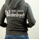 Wohnbach 1250 Jahre-Hoodie-Zipper-Rück