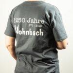 Wohnbach 1250 Jahre-T-Shirt-Rücken