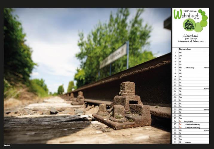Wohnbach Kalenderbild Bahnhof2