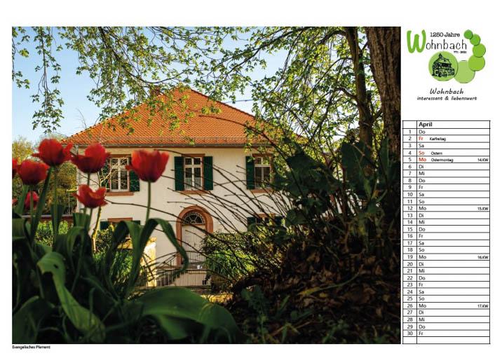 Wohnbach Kalenderbild Pfarrhaus