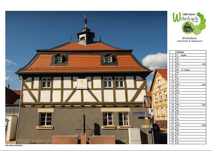 Wohnbach Kalenderbild Rathaus
